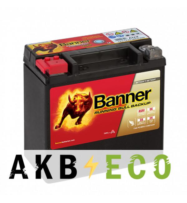 Автомобильный аккумулятор BANNER Running Bull AGM BACKUP (514 00 / AUX 14) 12L 200A 150x88x145 Mercedes, BMW, Audi