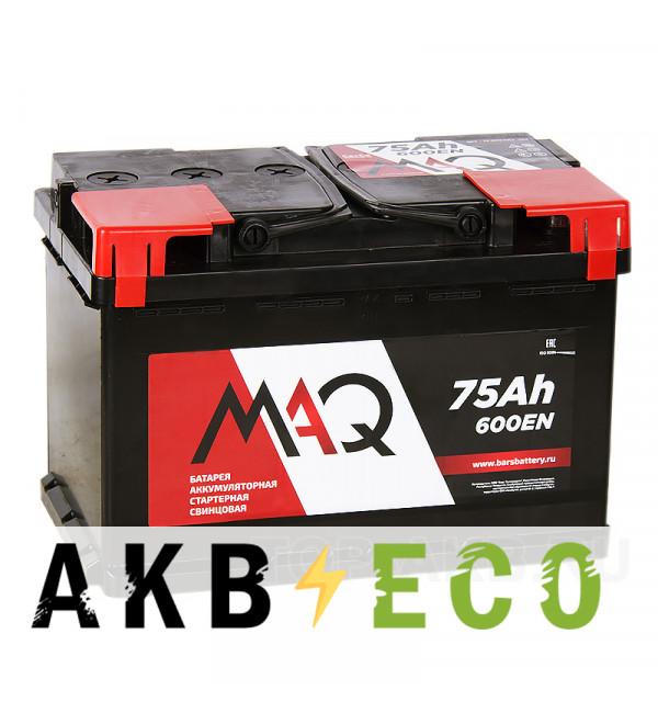 Автомобильный аккумулятор MAQ 75L 590A 278x175x190