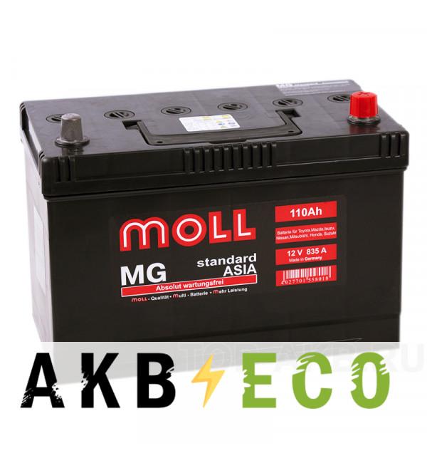 Автомобильный аккумулятор Moll MG Standard Asia 110R 835A 292x170x215
