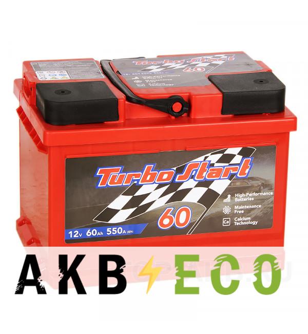 Автомобильный аккумулятор Turbo Start 60R низкий 550A 242x175x175