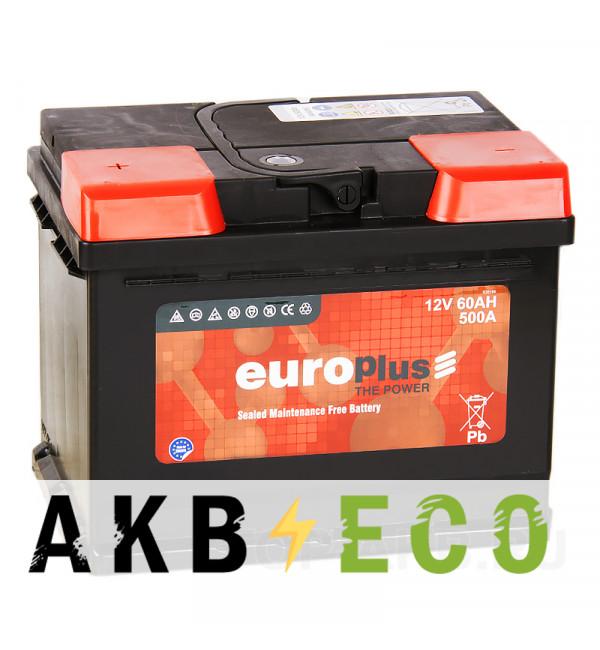 Автомобильный аккумулятор Europlus 60L 500A (242x175x190)