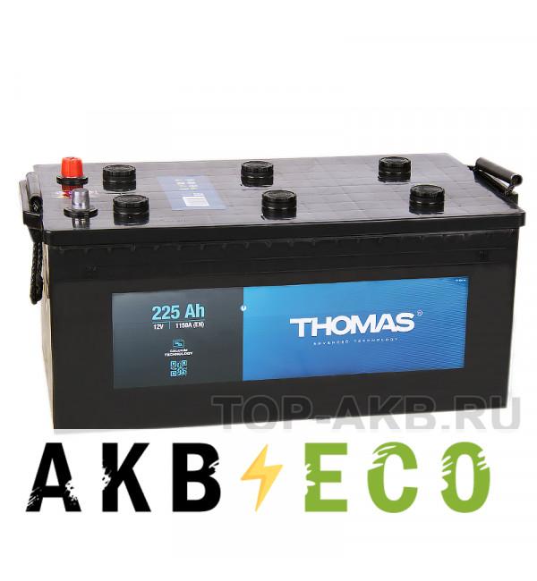 Автомобильный аккумулятор Thomas 225 евро 1150A (518x276x242)