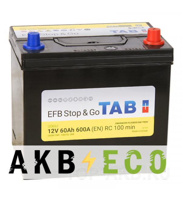 Автомобильный аккумулятор Tab EFB Stop-n-Go 60R (600A 232x173x225) 212860 56068