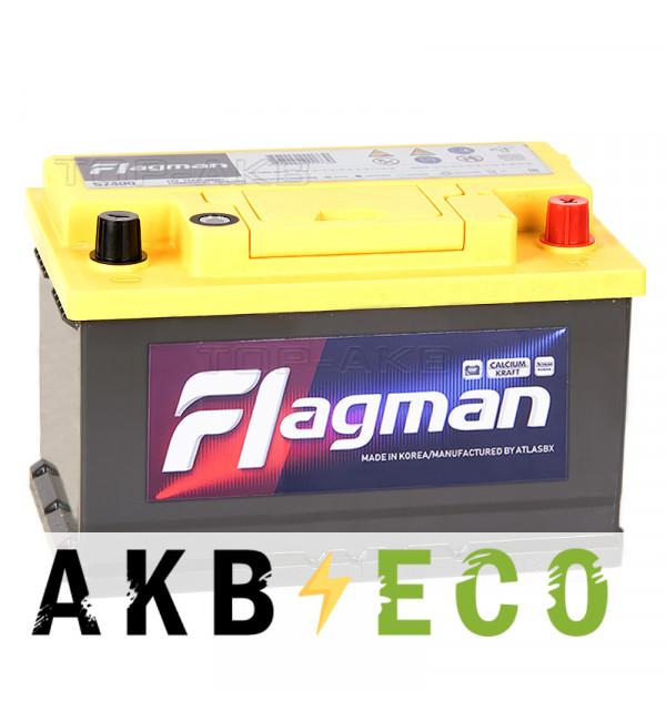 Автомобильный аккумулятор Flagman 74R LB3 750A (278x175x175) 57400