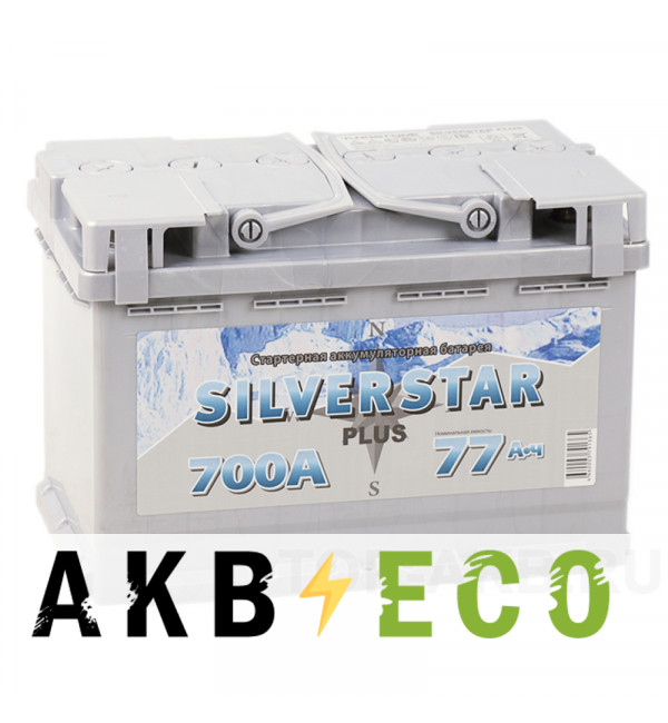 Автомобильный аккумулятор Silverstar Plus 77R 700A 276x175x190