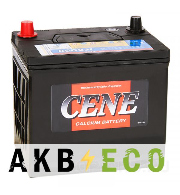 Автомобильный аккумулятор Cene 80D23L (70R 600A 232x173x225)