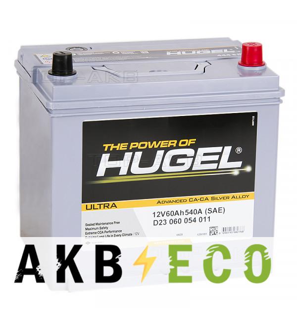 Автомобильный аккумулятор Hugel Ultra Asia 60R 540A (232x173x227) D23 060 054 011