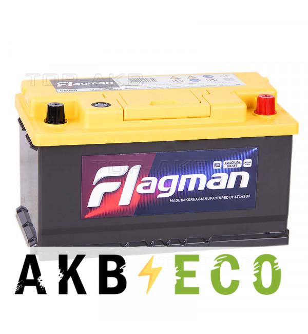 Автомобильный аккумулятор Flagman 80SR 80R 800A 315x175x175