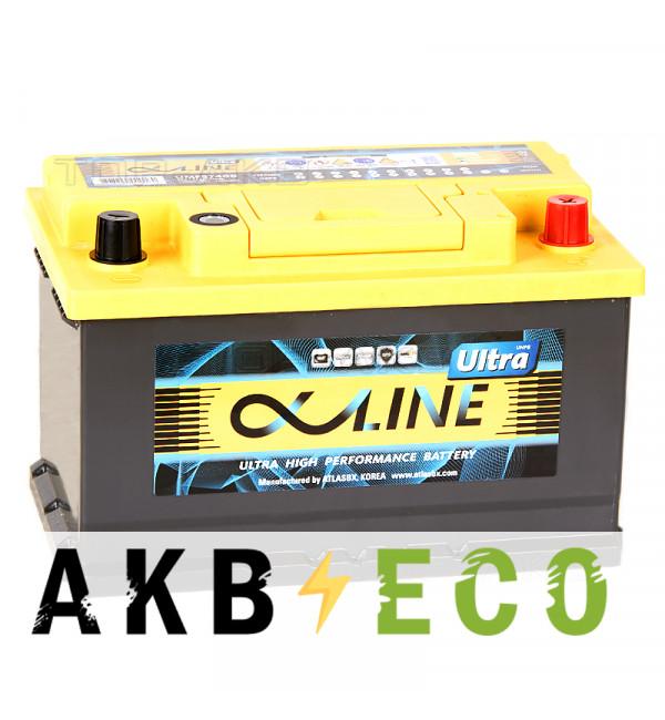 Автомобильный аккумулятор Alphaline Ultra 74R LB3 750A (278x175x175) 57400