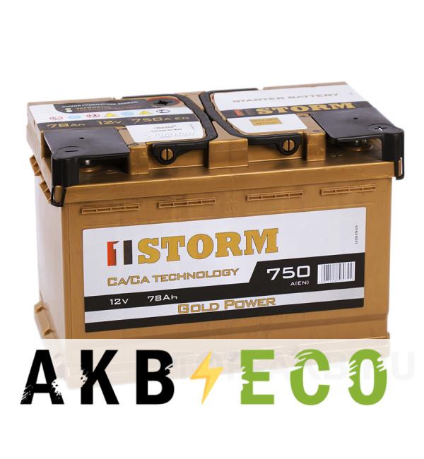 Автомобильный аккумулятор Storm Gold 78R 750A 278x175x190