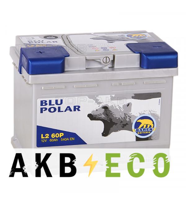 Автомобильный аккумулятор Baren Polar Blu 60L 540A 242x175x190 (L2X60P)
