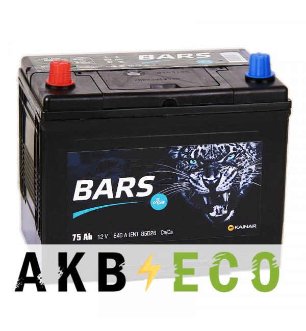 Автомобильный аккумулятор Bars Asia 75L 640A (261x173x225)