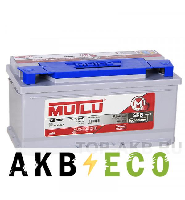 Автомобильный аккумулятор Mutlu Mega SMF M2 90 Ач 720А обр. пол. низкий (353x175x175) LB5.90.072.A