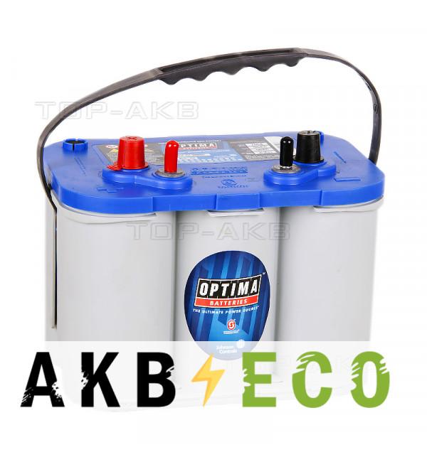 Автомобильный аккумулятор OPTIMA Blue Top 55 Ач 765А (261x175x200) BT DC 4.2 - 816253000