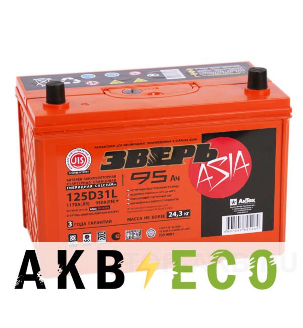 Автомобильный аккумулятор Зверь 125D31L (95R 930A 306x173x223)