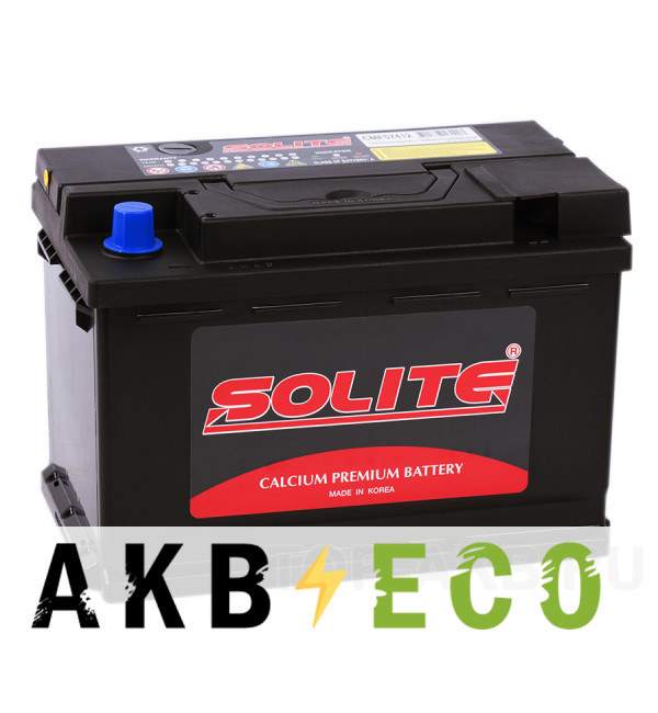 Автомобильный аккумулятор SOLITE 57412 (74R 690 277x174x189)