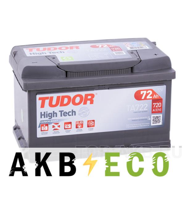 Автомобильный аккумулятор Tudor High-Tech 72R (720A 278x175x175) TA722