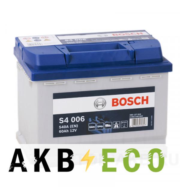 Автомобильный аккумулятор Bosch S4 006 60L 540A 242x175x190