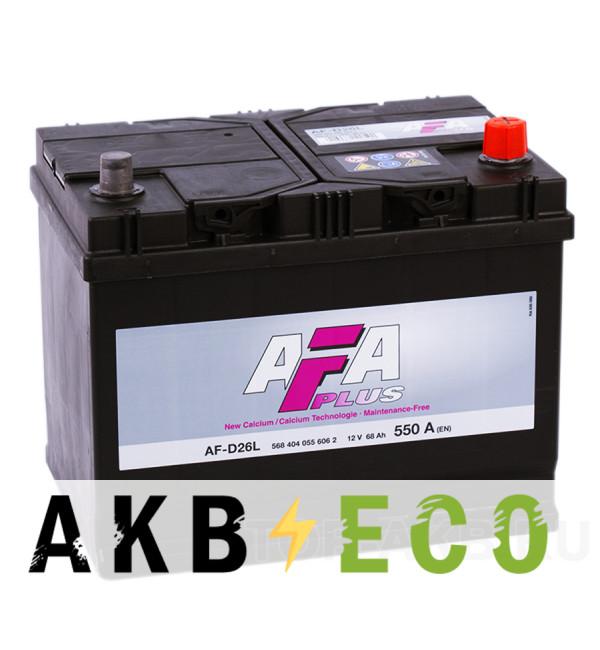 Автомобильный аккумулятор AFA Plus 68R 550A (261x175x220) AF-D26L