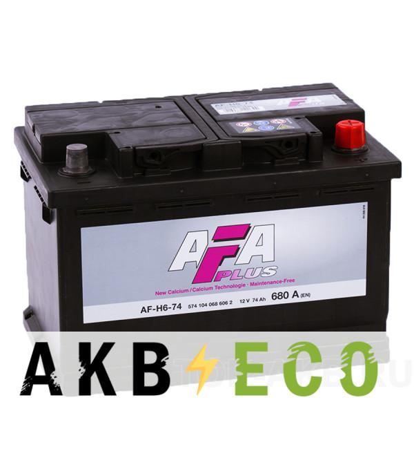 Автомобильный аккумулятор AFA Plus 74R 680A (278x175x190) AF-H6-74