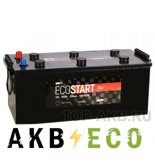 Автомобильный аккумулятор Ecostart 190 euro (1300А 513x223x217)