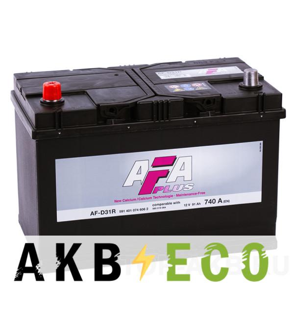 Автомобильный аккумулятор AFA Plus 91L 740A (306x173x225) AF-D31R