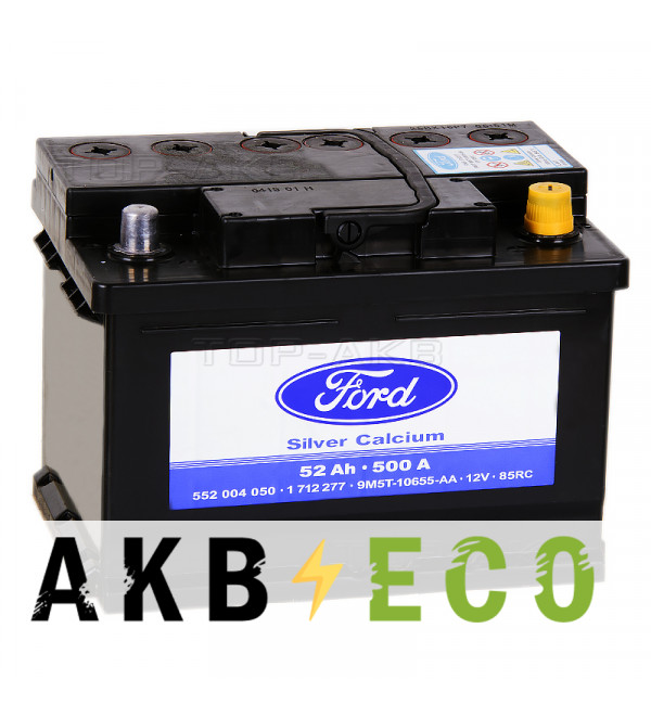 Автомобильный аккумулятор Ford Standart 52 Ач обратная пол. 520А (242x175x175) 1 712 277
