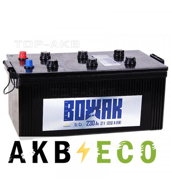 Автомобильный аккумулятор Вожак 230 евро 1350A 518x274x238