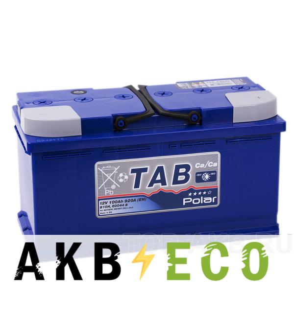 Автомобильный аккумулятор Tab Polar 100R (900A 353x175x190) 121100 60044