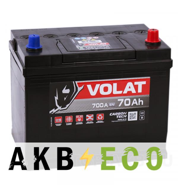 Автомобильный аккумулятор Volat Asia 70R (700A 261x173x225)