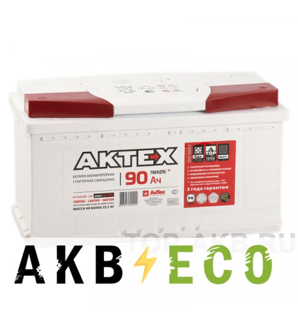 Автомобильный аккумулятор Актех 90R (780A 353x175x190)