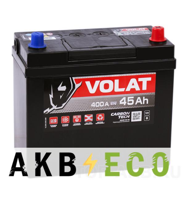 Автомобильный аккумулятор Volat Asia 45R (400A 238x128x227)
