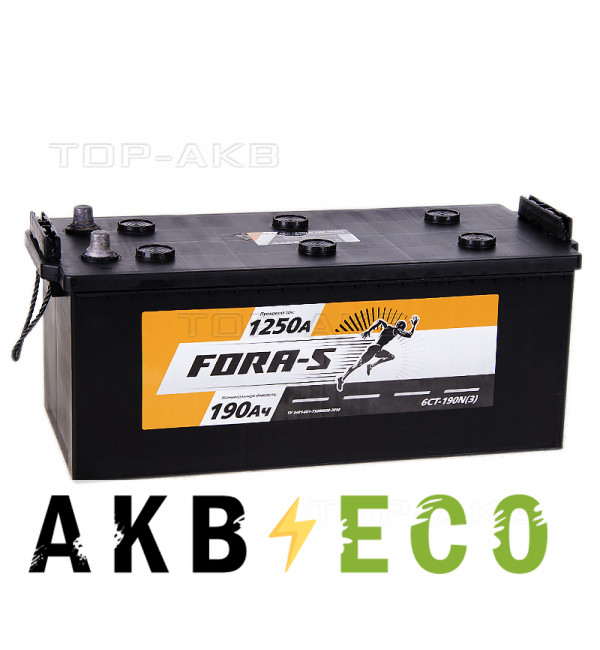 Грузовой аккумулятор FORA-S 190 евро 1150A 524x239x240