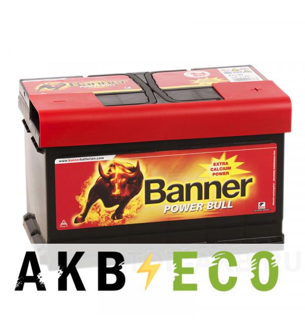 Автомобильный аккумулятор BANNER Power Bull (72 09) 72R 670A 278x175x175