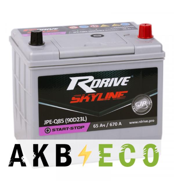 Автомобильный аккумулятор R-Drive Start-Stop 90D23L (65R 670А 232x173x225) Q85