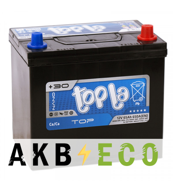 Автомобильный аккумулятор Topla Top JIS 65R 650А 230x173x220 (118665 56568)