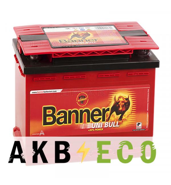 Автомобильный аккумулятор BANNER uni Bull (50 100) 47 Ач обратная пол. 390A (207x175x175) 2017г