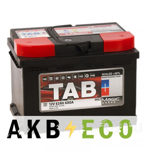Автомобильный аккумулятор Tab Magic 62R (600A 242x175x175) 189063 56249