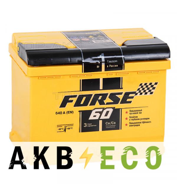 Автомобильный аккумулятор Forse 60L 640A (242x175x175)