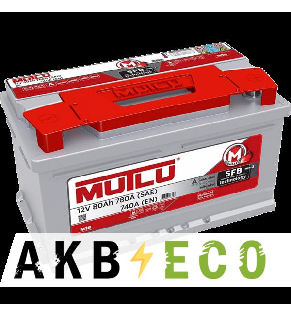 Автомобильный аккумулятор Mutlu Calcium Silver 80R низкий 740А (315x175x175) SMF M2