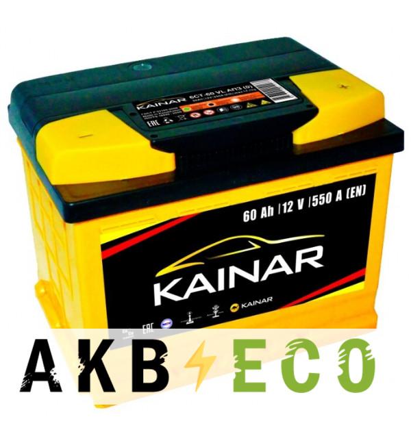 Автомобильный аккумулятор KAINAR 60 Ач обр. пол. 550А (242x175x190)