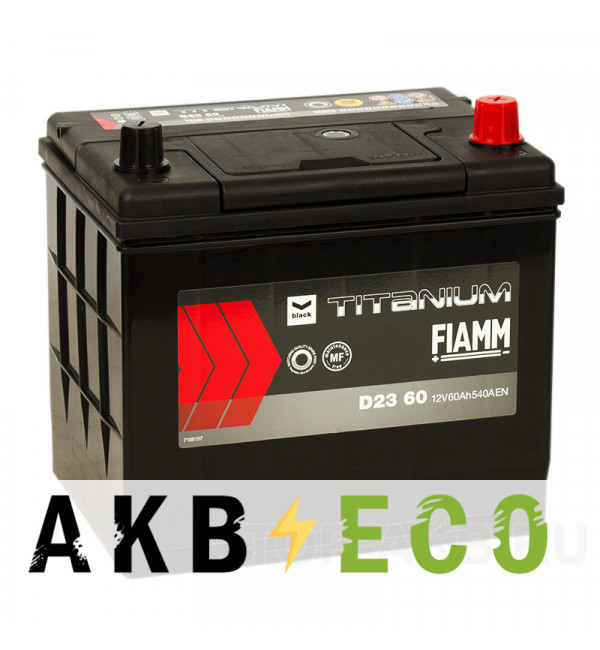 Автомобильный аккумулятор Fiamm Asia 60R 540A 232x173x225