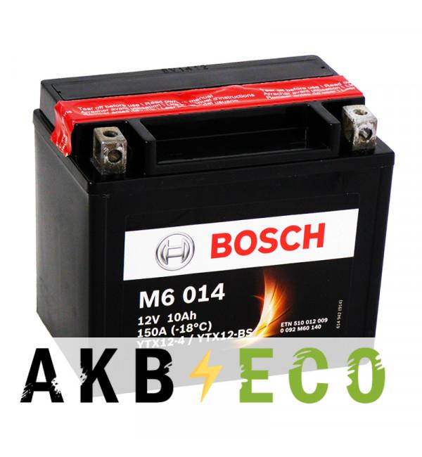 Мотоциклетный аккумулятор Bosch Moto AGM 10 Ач 150А (152x88x131) M60140 прямая пол.