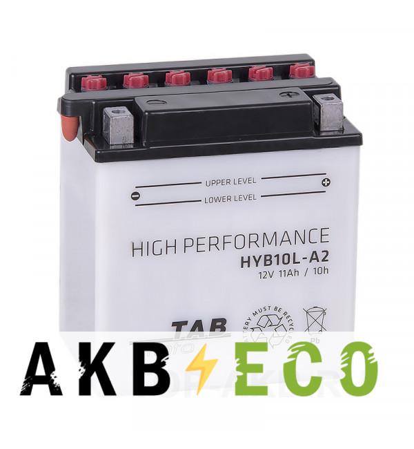 Мотоциклетный аккумулятор TAB Moto High performance HYB10L-A2 12V 11Ah 160A (134х89х145) обр. пол. сухоз.