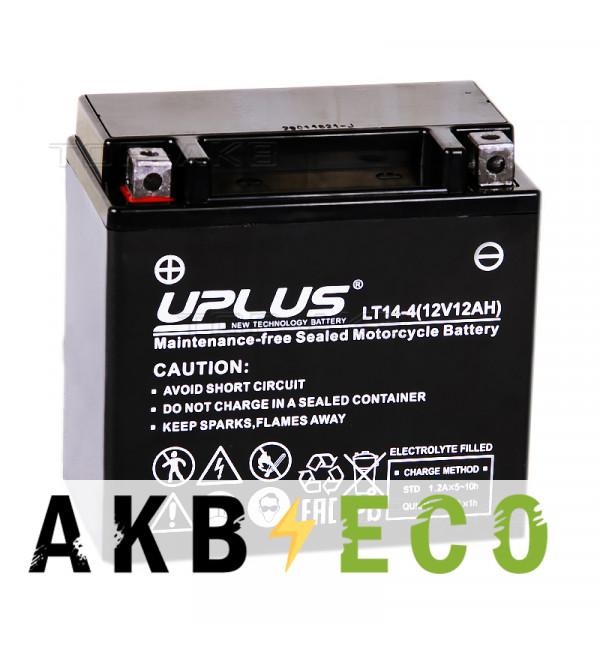 Аккумулятор для скутера Uplus LT14-4 12V 12Ah 200А прям. пол. (150x87x145) Super Start AGM