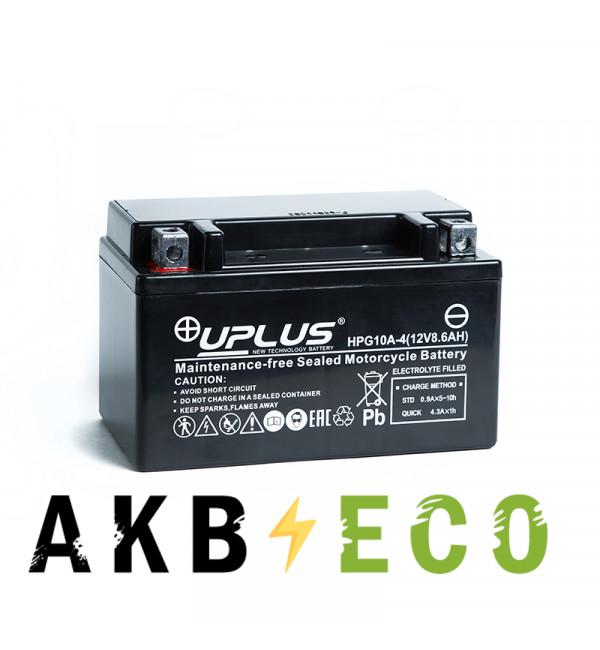 Мотоциклетный аккумулятор Uplus HPG10A-4 12V 8.6Ah 110А прям. пол. (150x87x93) Nano GEL