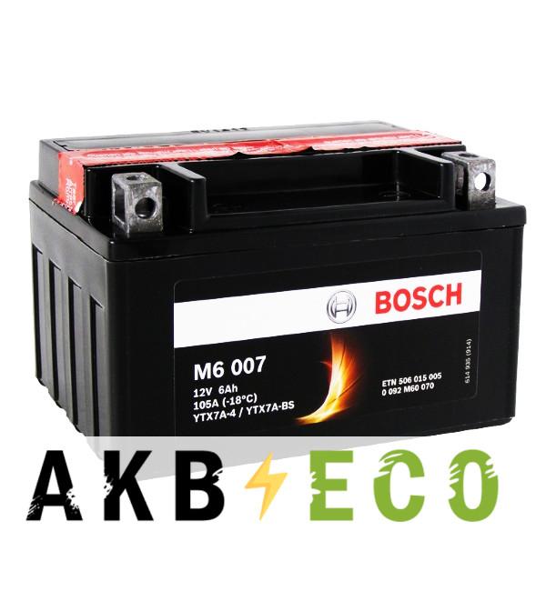 Мотоциклетный аккумулятор Bosch Moto AGM 6 Ач 105А (151x88x94) M60070 прямая пол.