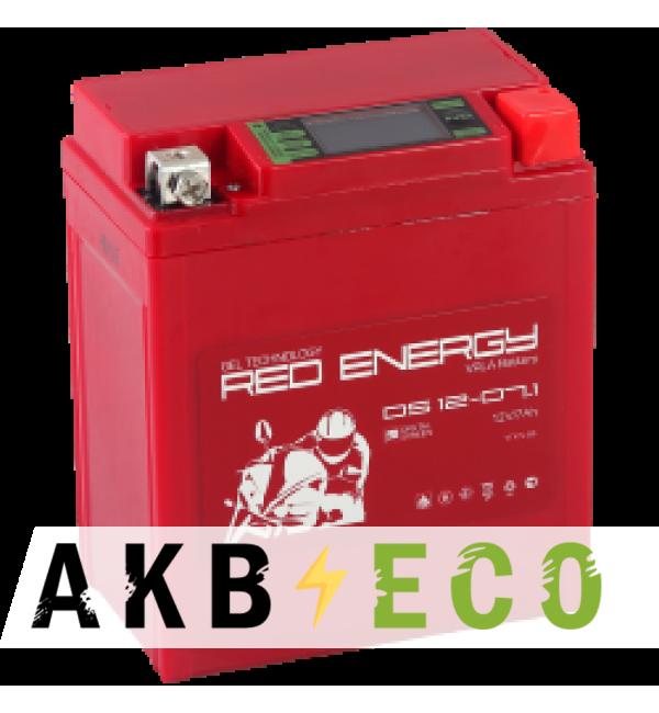 Мотоциклетный аккумулятор Red Energy DS 1207.1, 12V 7Ач 110А (114x71x131) YTX7L-BS