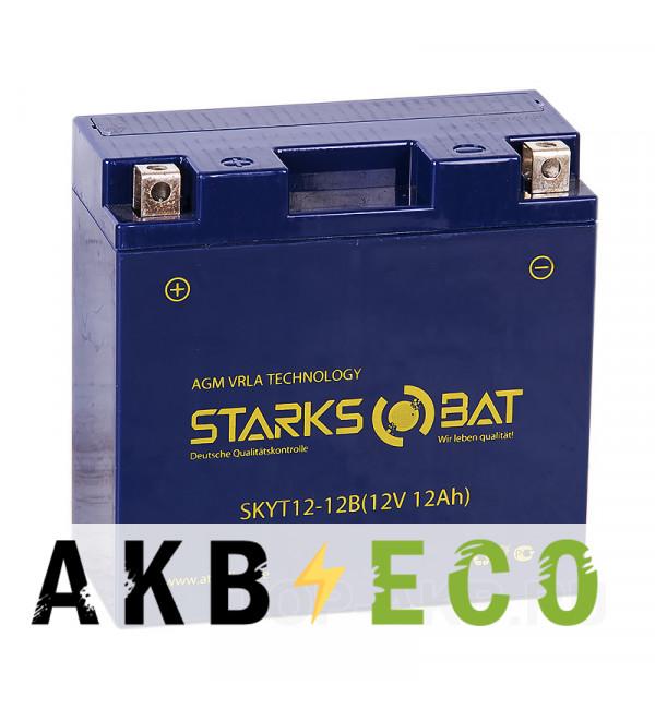 Мотоциклетный аккумулятор STARKS BAT YT S 12-12B 12 ач +- 160A (152x70x150) YT14B-BS AGM
