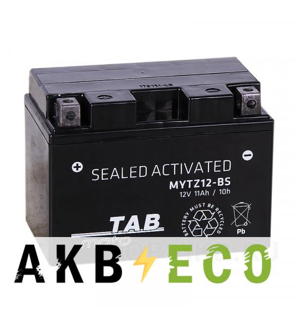 Мотоциклетный аккумулятор TAB Moto Maintenance free MYTZ12-BS 12V 10Ah 140A (150х88х110) прям. пол. AGM